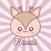 conception de dessin animé animal renne kawaii
