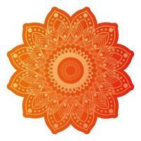 mandala de couleur orange foncé