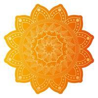 mandala de couleur orange pâle