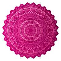 mandala de couleur rose foncé