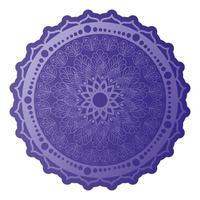 mandala de couleur violette sur fond blanc