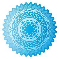 mandala de couleur bleu clair