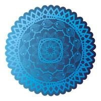 mandala de couleur bleu foncé