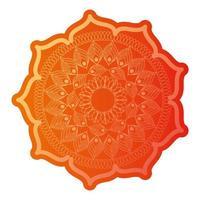 mandala de couleur orange clair
