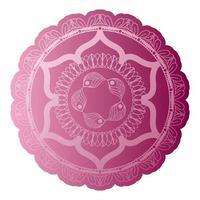 mandala de couleur rose clair