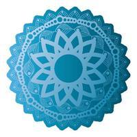 mandala de couleur bleu sur fond blanc