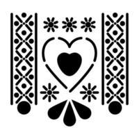 icônes de coeur mexicain avec petits soleils