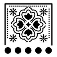 icône de trèfle mexicain avec petits soleils