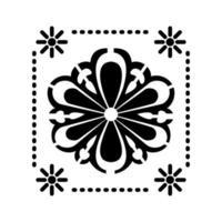 icône de tournesol mexicain avec petits soleils