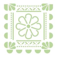 icône de fleur verte mexicaine sur fond blanc