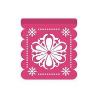 guirlande de couleur rose avec tournesol