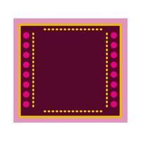 tapis mexicain à cadre carré