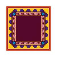 tapis mexicain rouge et jaune