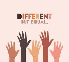 conception de peaux différentes mais égales et de diversité