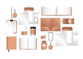 maquette de smartphone et de conception d'identité d'entreprise