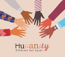 humanité différente mais égale et diversité des mains