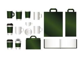 maquette avec un design de marque vert
