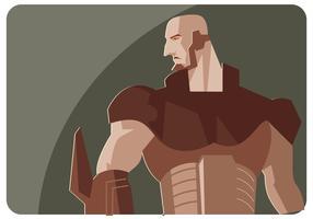 Vecteur de super héros en métal