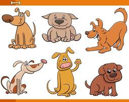 chiens et chiots ensemble de personnages animaux mignons