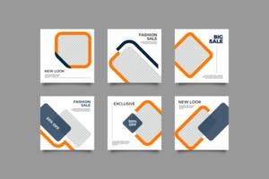 conception de publication de médias sociaux minimaliste
