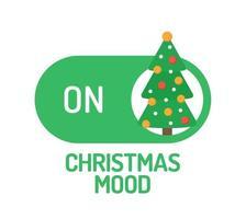 humeur de Noël sur interrupteur avec arbre décoré