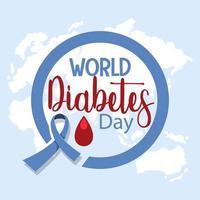 logo de la journée mondiale du diabète ou bannière avec du sang