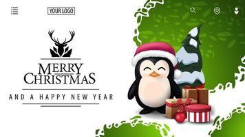 carte de Noël pour site Web avec une belle salutation