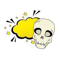 crâne d'halloween pop art