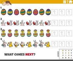 jeu de motifs éducatif pour enfants avec des personnages de Pâques vecteur