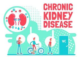 affiche de maladie rénale chronique