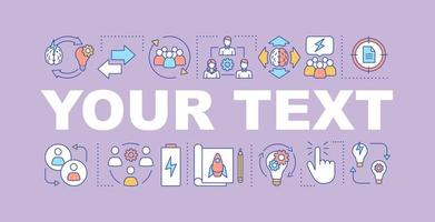 solution recherche bannière de concepts de mots