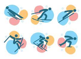 Jeux olympiques d'hiver Corée pictogramme vecteur