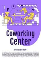 employés en affiche de bureau ouvert vecteur
