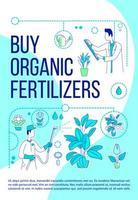 acheter des engrais organiques affiche vecteur