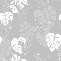 motif tropical sans soudure avec des feuilles de palmier monstera vecteur