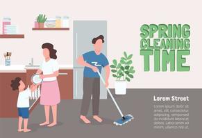 affiche du temps de nettoyage de printemps