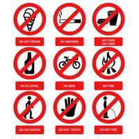 Vecteurs de signe d'avertissement vecteur