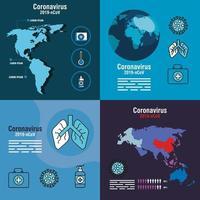 ensemble de bannière de prévention des coronavirus
