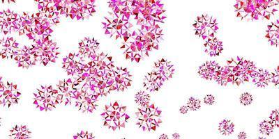 mise en page violet clair, rose avec de beaux flocons de neige.