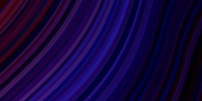 fond bleu clair, rouge avec des lignes courbes.