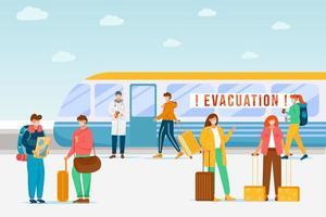 évacuation d'urgence du train vecteur