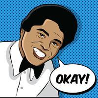Jeune James Brown Vector