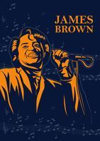 James Brown Singer vecteur