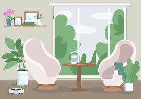 salon à la maison moderne vecteur