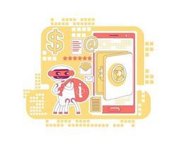 bot volant des données de compte bancaire et des informations personnelles vecteur