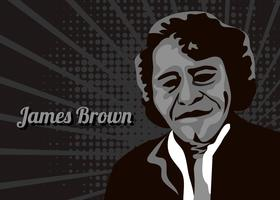 Figure abstraite de James Brown vecteur
