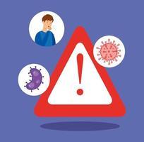 bannière médicale coronavirus vecteur