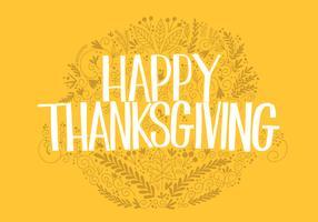 Thanksgiving main lettrage vecteur