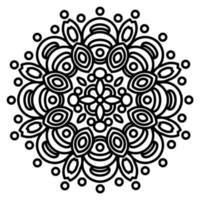 mandala avec ornements vecteur