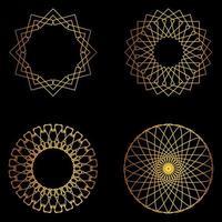 ensemble de formes géométriques dorées vecteur